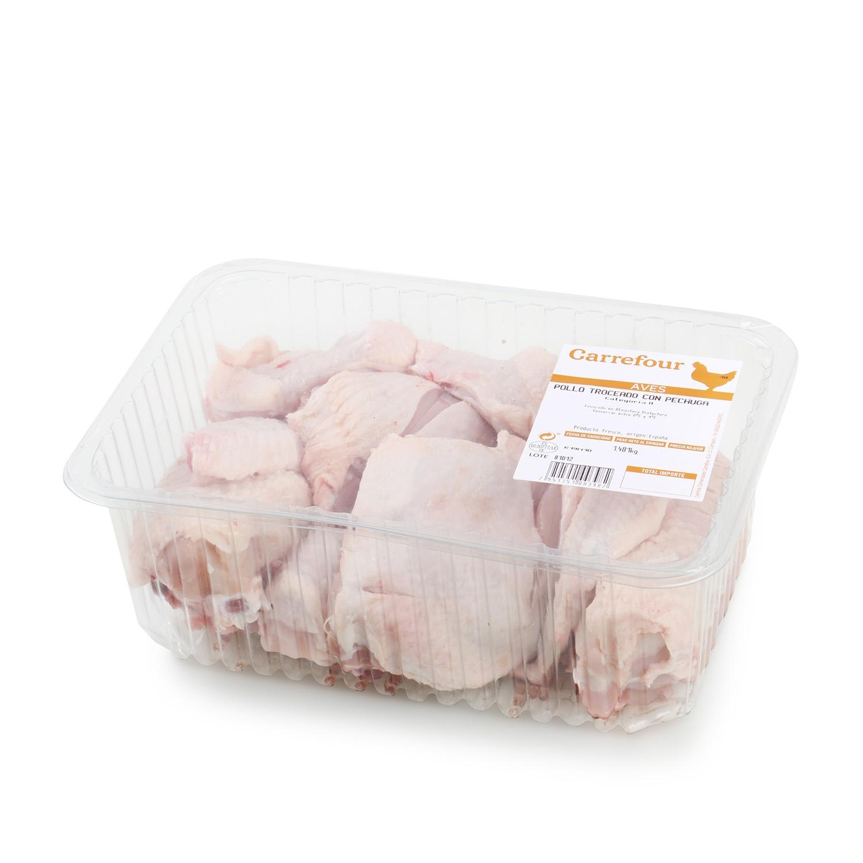 Pollo Troceado con Pechuga Carrefour 1.5 kg