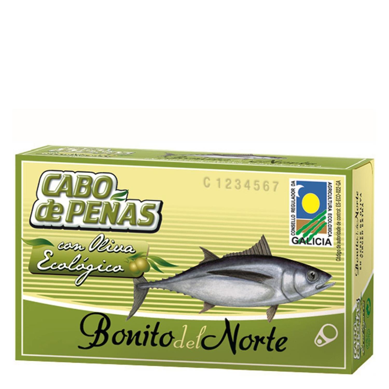 Bonito del norte en aceite de oliva ecológico Cabo de Peñas 72,5 g.