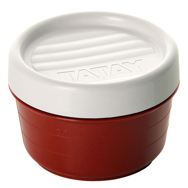 Hermeticos Redondo de Plástico TATAY 0,2 L. - Granate