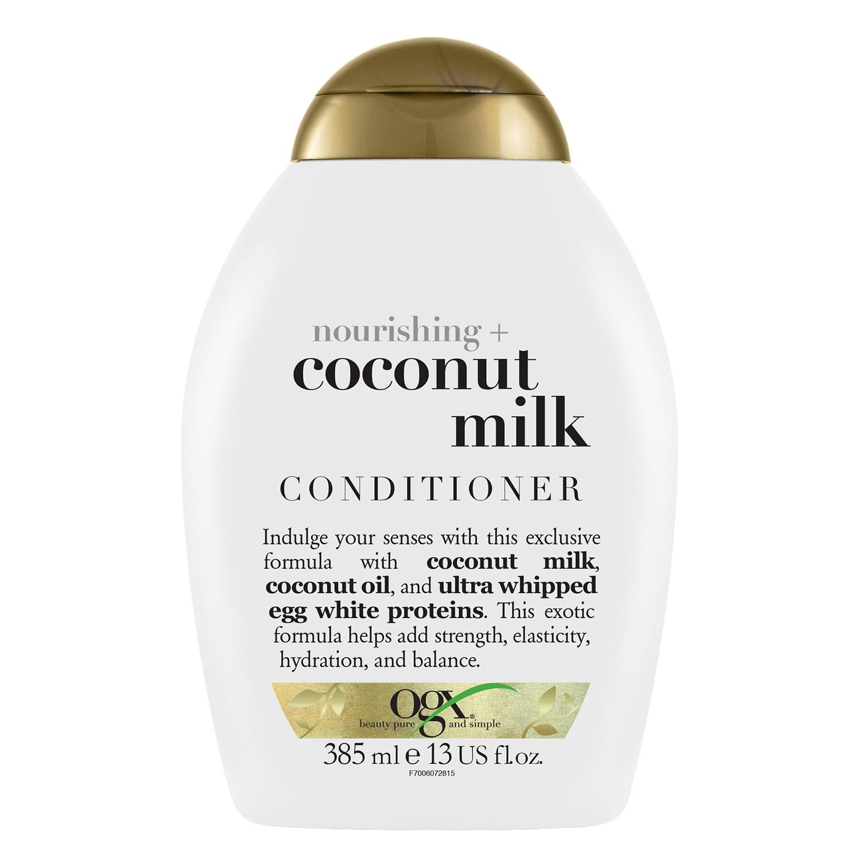 Acondicionador nutritivo con leche de coco OGX 385 ml.