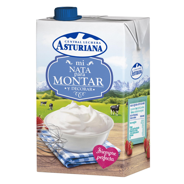 Nata para montar y decorar Central Lechera Asturiana 500 ml.