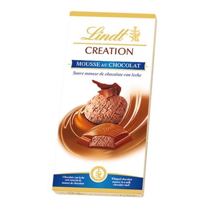 Chocolate con leche relleno de mousse de chocolate Lindt Creation 140 g.