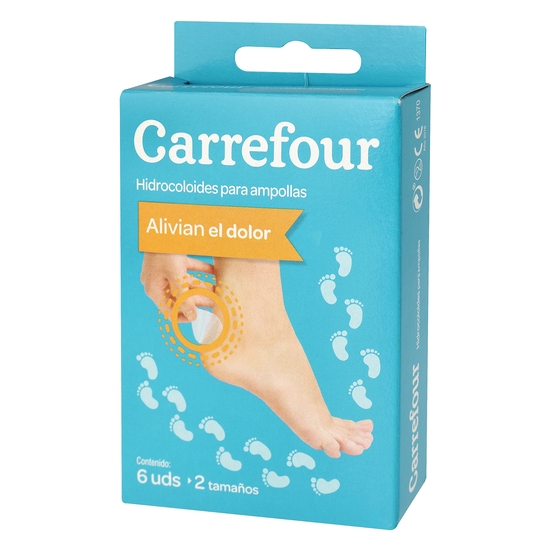 Apósitos hidrocoloides para ampollas Carrefour 6 ud.