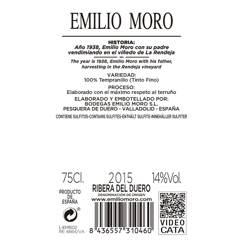 Vino D.O. Ribera del Duero tinto Emilio Moro 75 cl. - 2