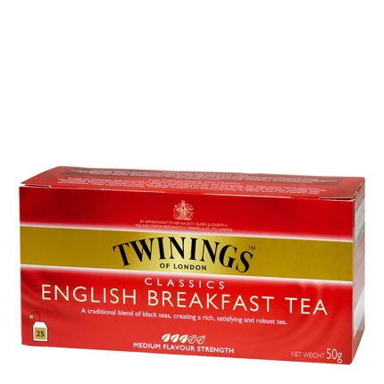 Té English Breakfast en bolsitas Twinings 25 ud.