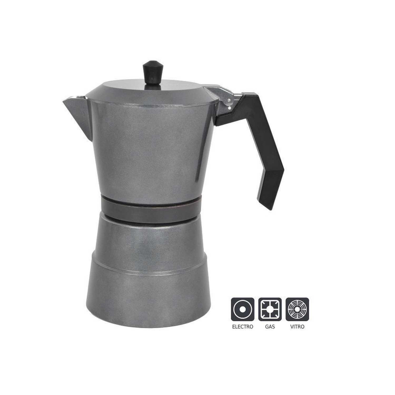 Cafetera A presión de Aluminio 9tzs - Gris
