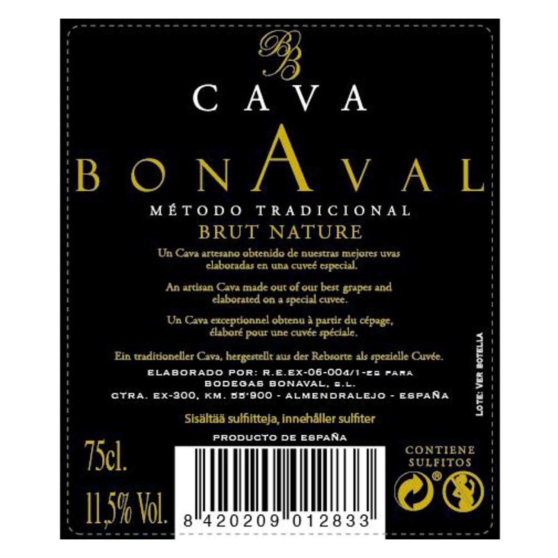 Cava Bonaval brut nature 75 cl. -