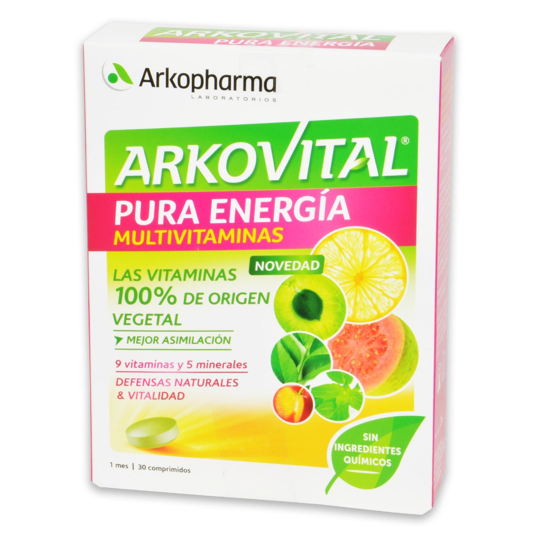 Arkovital multivitaminas Pura energía Arkopharma 30 comprimidos.