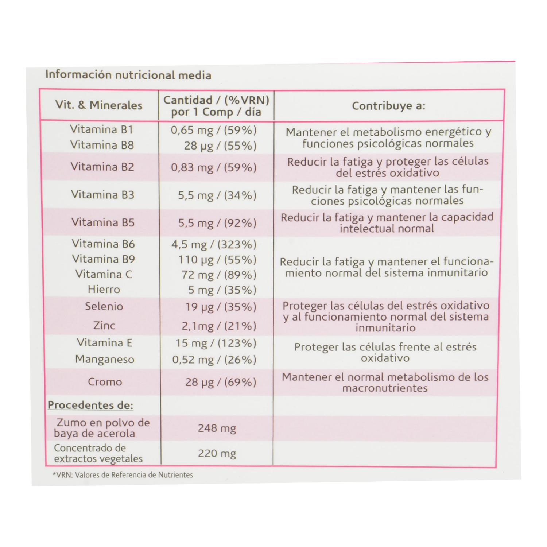 Arkovital multivitaminas Pura energía Arkopharma 30 comprimidos. - 3
