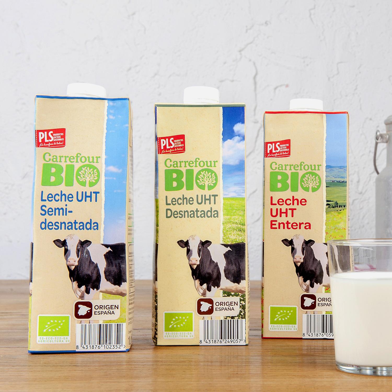 Leche desnatada ecológica Carrefour Bio  brik 1 l. - 2