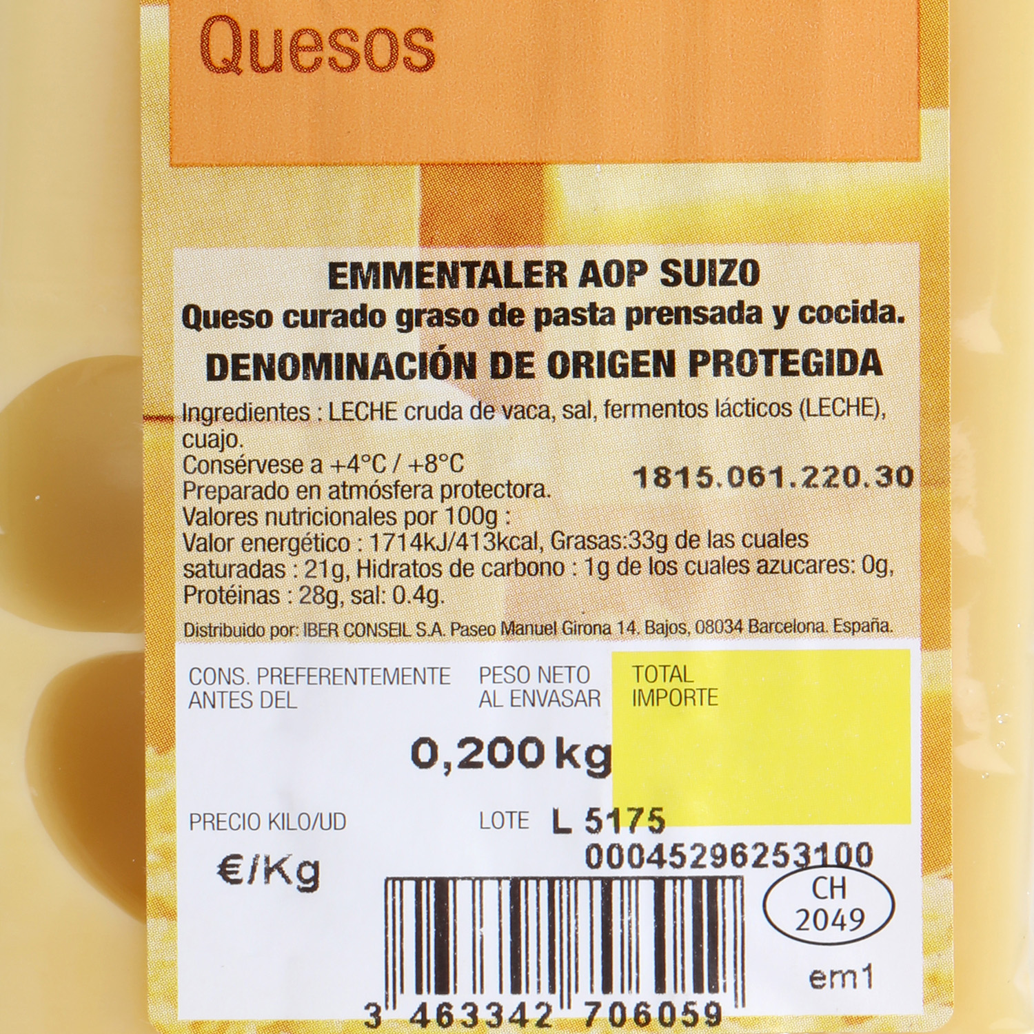 Queso Emmental suizo - 2