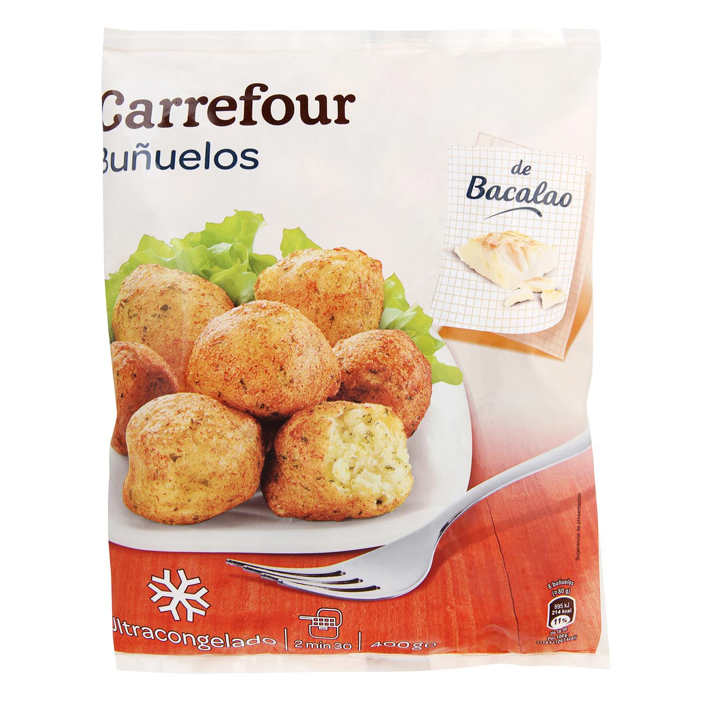 Buñuelos con bacalao Carrefour 400 g.