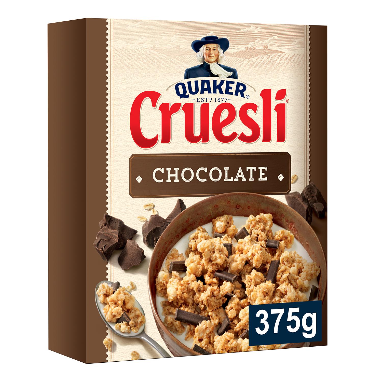 Cereales con avena integral y chocolate Cruesli Quaker 375 g.