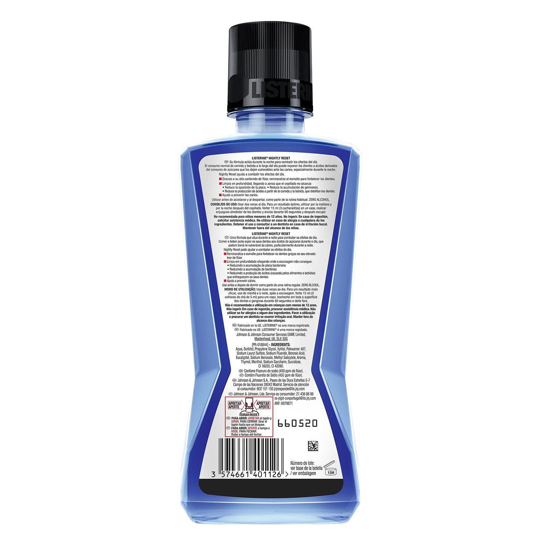 Enjuague bucal Nightly reset Listerine 400 ml. -