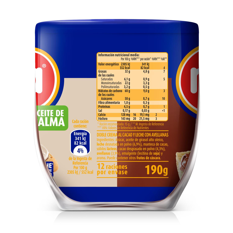 Crema de cacao con avellana sabor dúo -