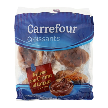 Croissants rellenos de crema de cacao