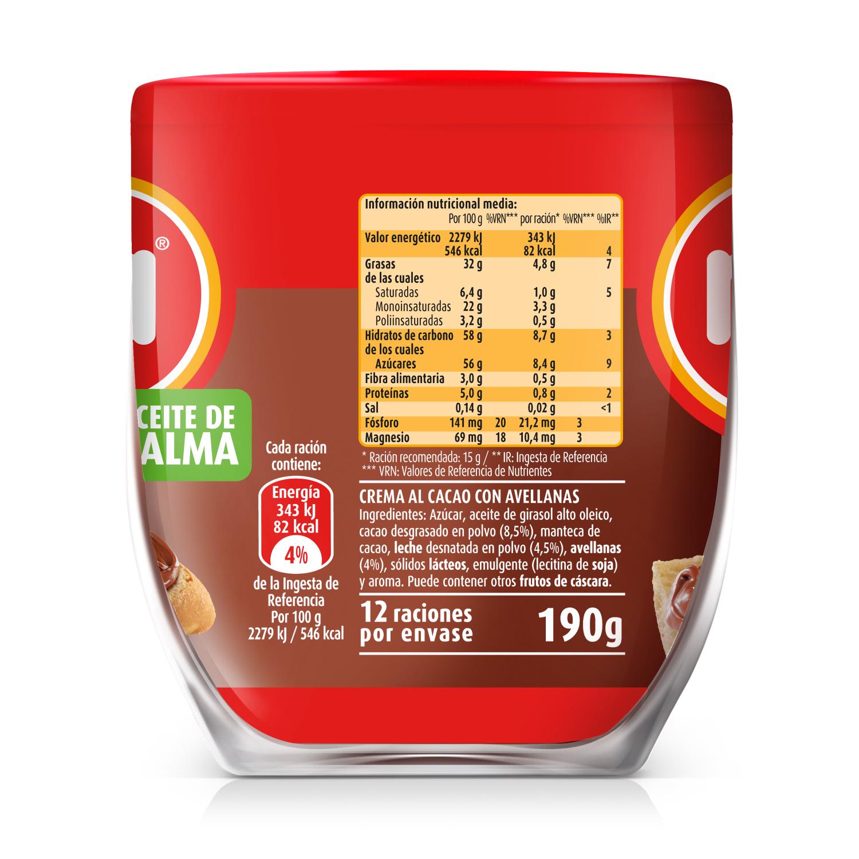 Crema de cacao con avellanas original Nocilla 190 g. -