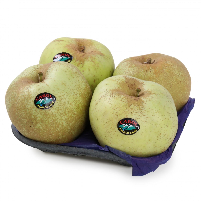 Manzana reineta verde premium selecta Carrefour bandeja 4 ud 1 Kg aprox - 2