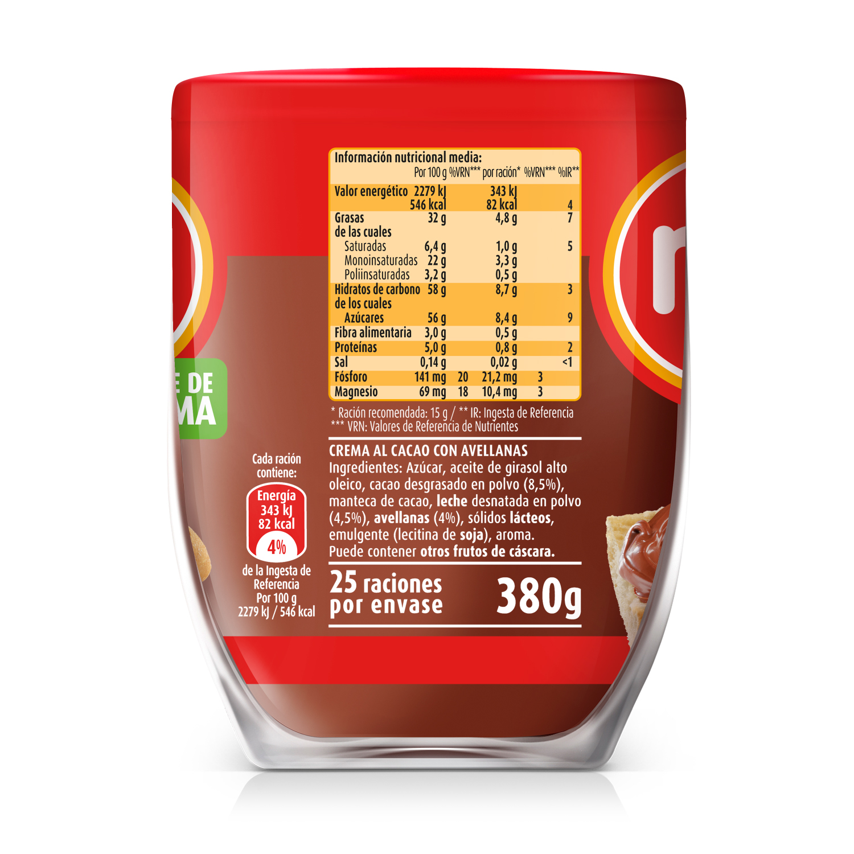Crema de cacao con avellanas original Nocilla 380 g. -