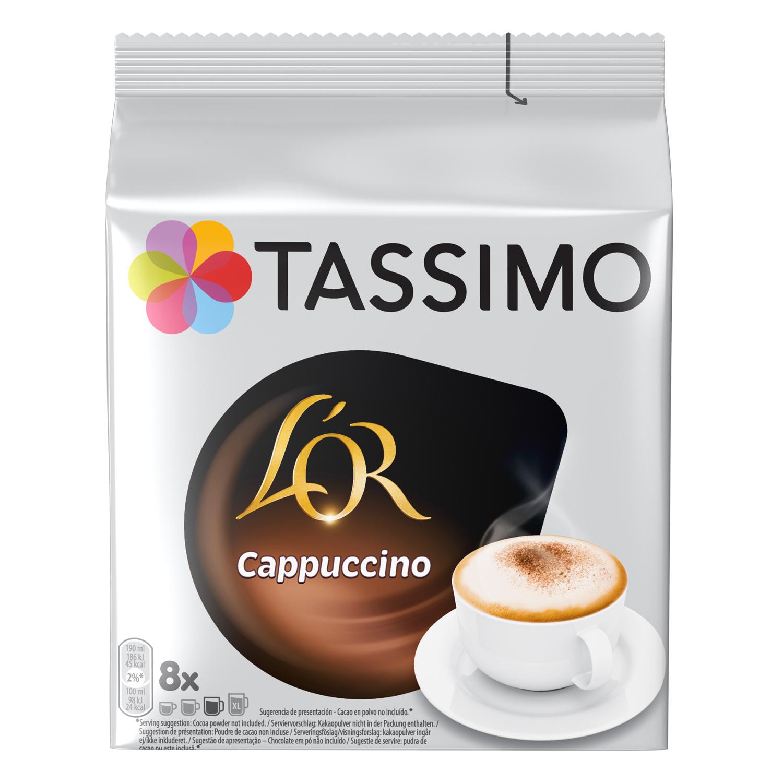 Café cappuccino en cápsulas L'Or Espresso Tassimo 8 unidades de 33,4 g.