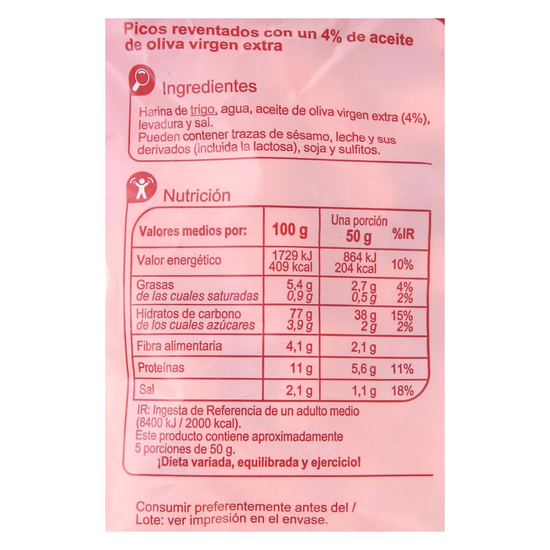 Picos reventados Carrefour 250 g.  - 2