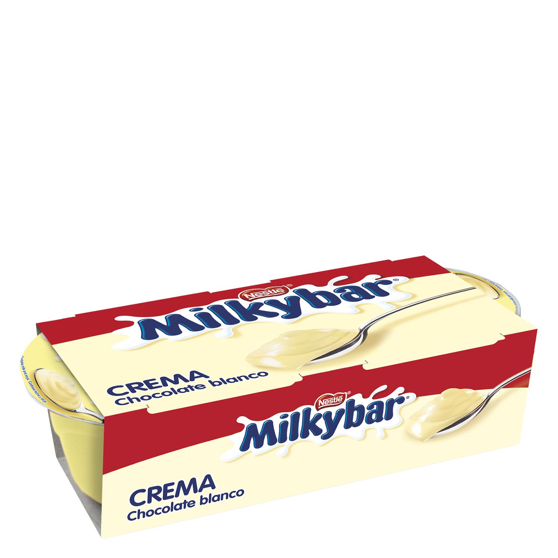 Crema de chocolate blanco Nestlé Milkybar pack de 2 unidades de 70 g.
