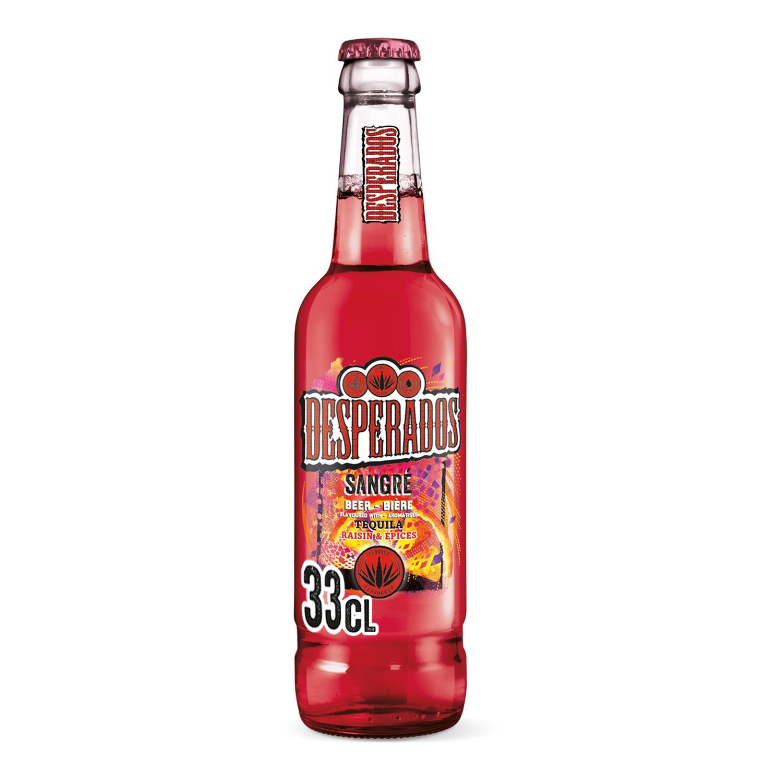 Cerveza Desperados Sangre con tequila botella 33 cl.