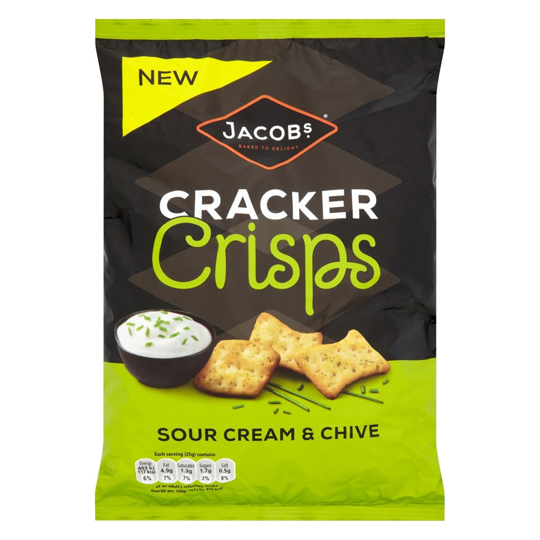 Crackers crema agria y cebollino Jacobs 150 g.