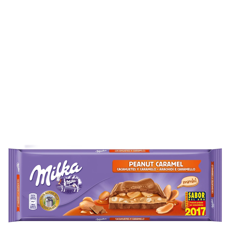 Chocolate de caramelo y cacahuete Milka - Carrefour supermercado ...