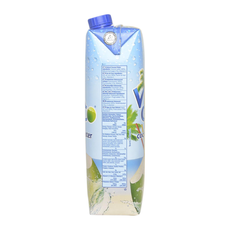 Agua de coco Vitacoco natural brick 1 l. -
