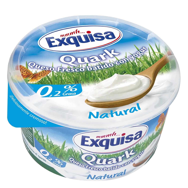 Queso fresco batido con yogur Quark Exquisa 500 g.