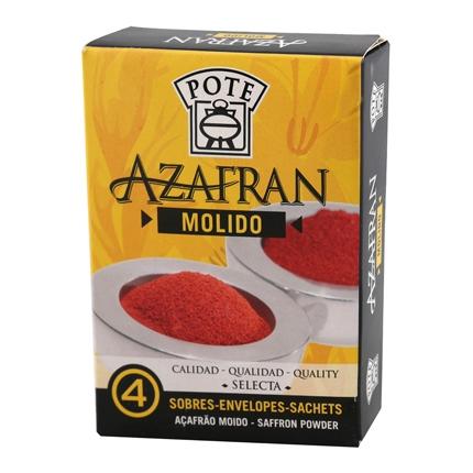 Azafrán molido Pote pack de 4 sobres de 100 mg.
