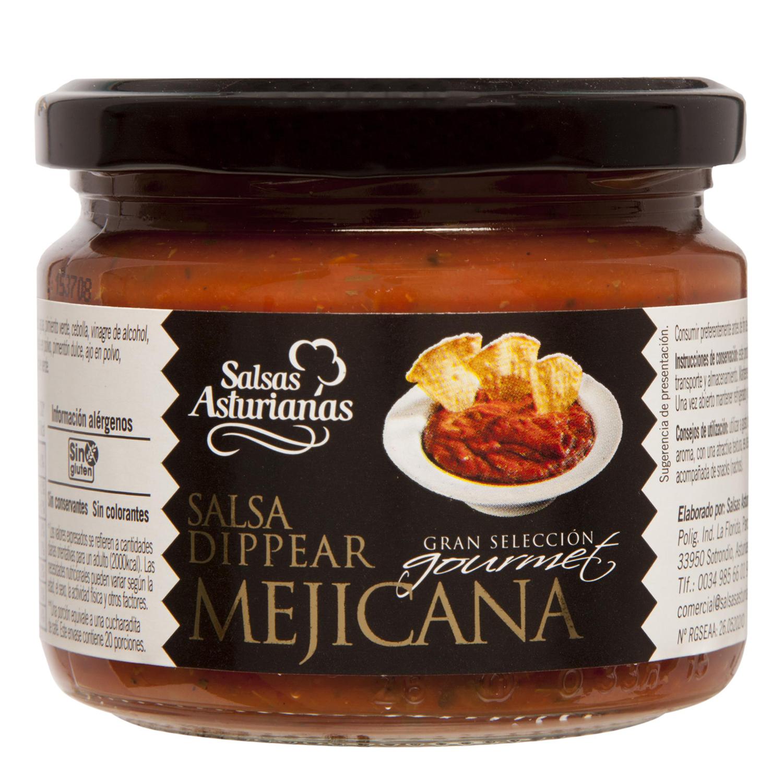 Salsa Dippear mejicana gran selección gourmet Salsas Asturianas tarro 300 g.