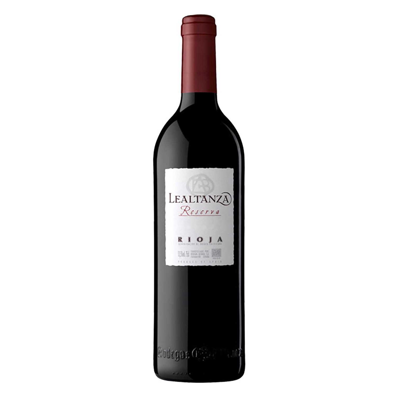 Vino D.O. Rioja tinto reserva Lealtanza 75 cl.