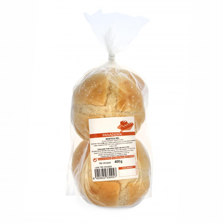 Pan de hamburguesa rústica 4 unidades de 100 g