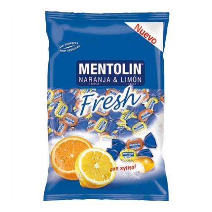 Caramelos sabor naranja y limón Mentolin 100 g.