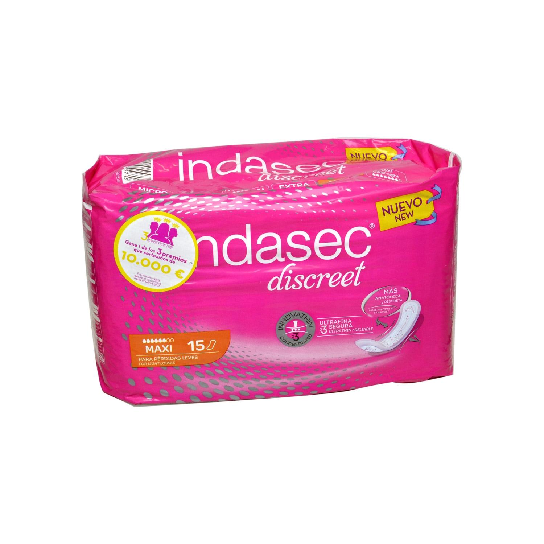 Compresas incontinencia maxi Indasec 15 ud.