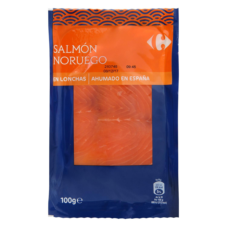 Salmón ahumado Noruego Carrefour 100 g.