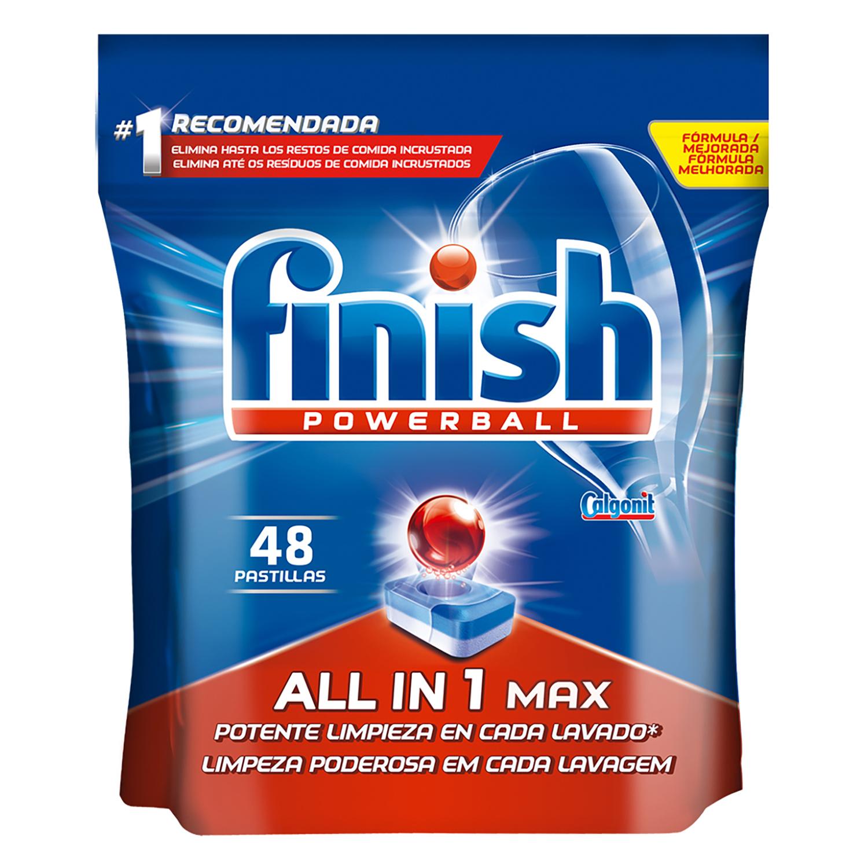 Lavavajillas máquina Todo en 1 en pastillas Finish 48 ud.