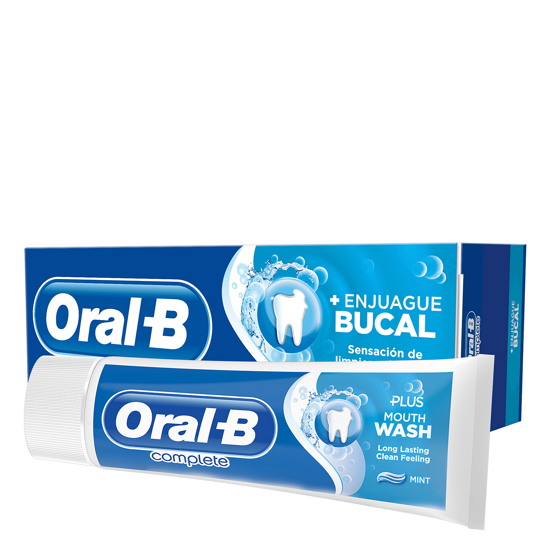 Dentífrico Complete con enjuague bucal + blanqueante Oral-B 75 ml.