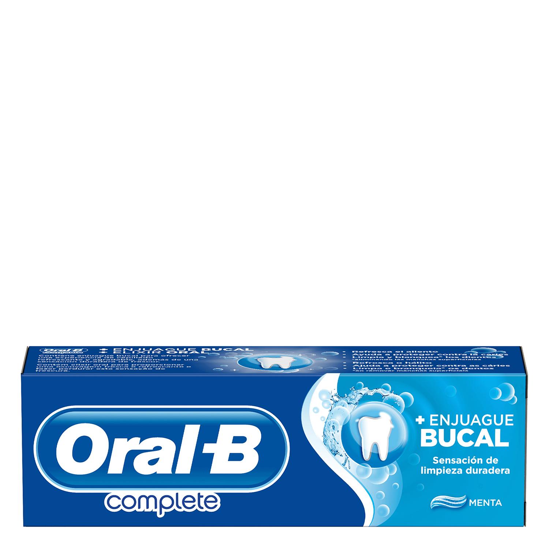 Dentífrico Complete con enjuague bucal + blanqueante Oral-B 75 ml. -