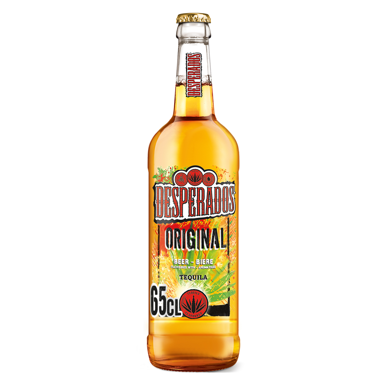 Cerveza Desperados con tequila botella 65 cl.
