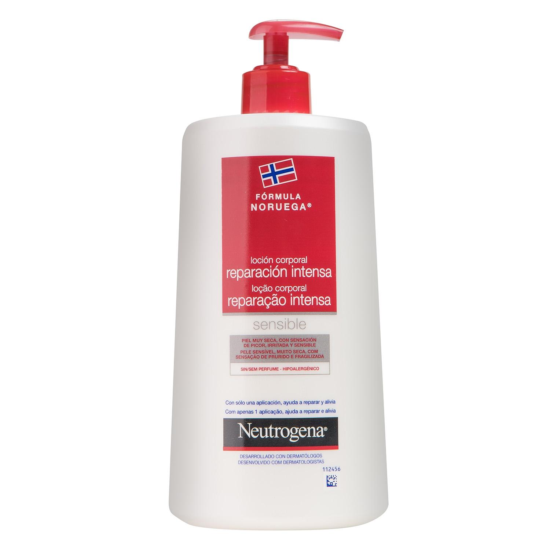Loción corporal reparación intensa para piel sensible Neutrogena 750 ml.
