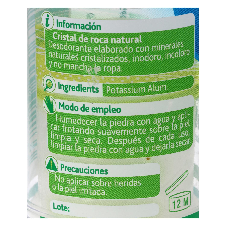 Desodorante stick ecológico Piedra de Alumbre nbd 120 g. -