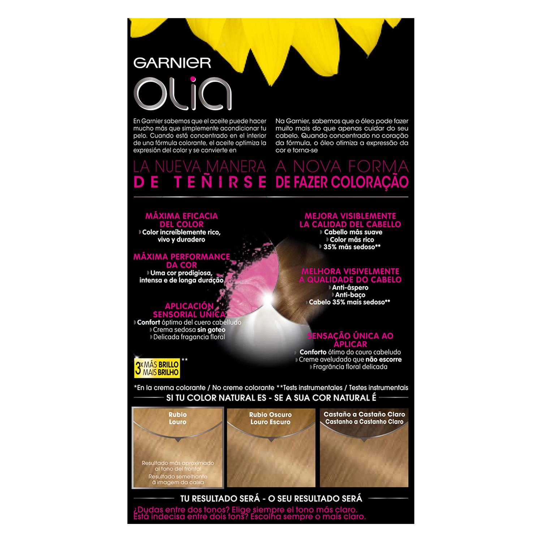 Tinte 8.0 Rubio Claro Garnier Olia 1 ud. - 2