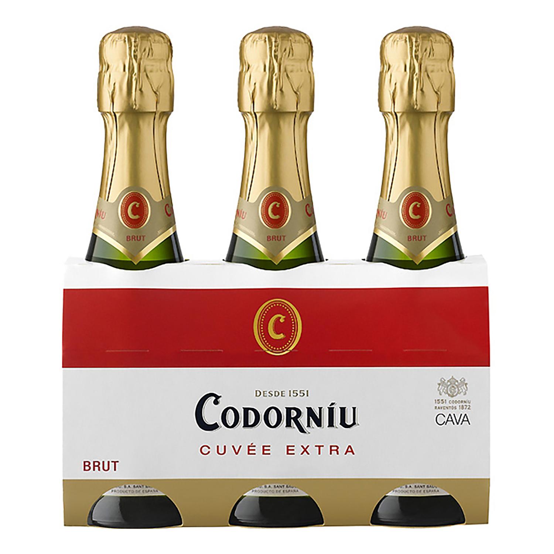 Cava Codorníu brut pack de 3 botellas de 20 cl.