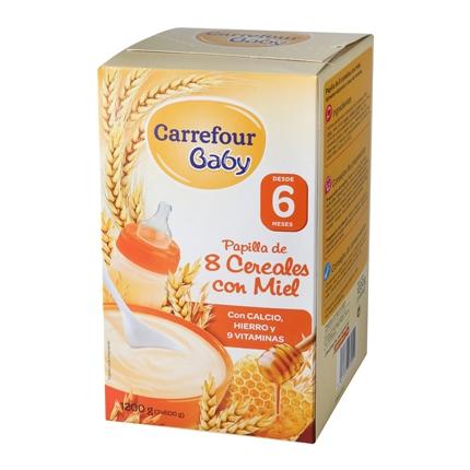 Papilla 8 cereales con miel