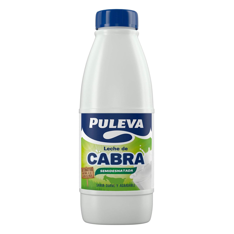 Leche semidesnatada de cabra Puleva botella 1 l.