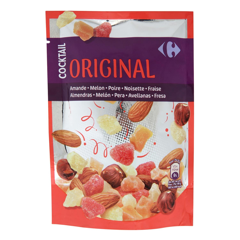 Cocktail de frutos secos y nueces Carrefour 120 g.