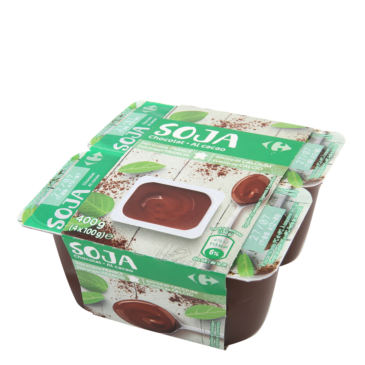 Yogur de soja con chocolate